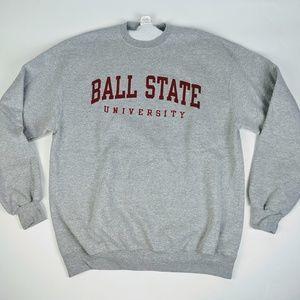 Ball State XL Gray Champion Pullover Sweatshirt